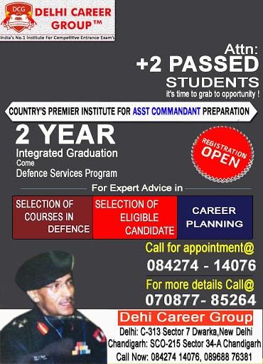 Assistant Commandant Coaching in Dehradun