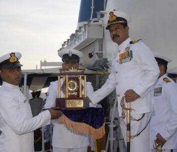 Cadet_Subhash_Kumar_KP_receiving_the_Director_General_Coast_Guard_Trophy_for_the_best_Coast_Guard_Cadet._He_also_received_the_Binocular_for_standing_first_in_overall_order_of_merit